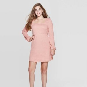 Xhilaration Long Sleeve Square Neck Sweater Dress